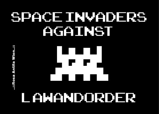 Space Invaders against Lawandorder